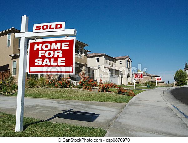maison, vente, signes - csp0870970