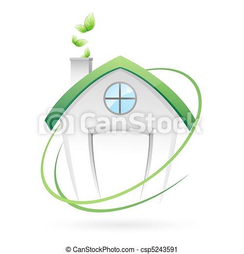 maison, vert - csp5243591