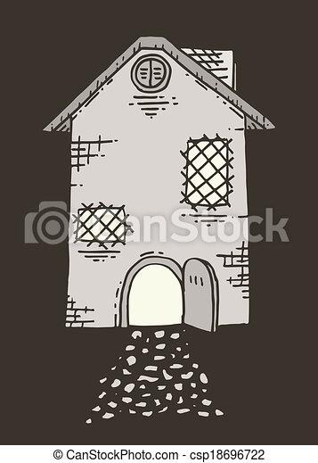 maison, vieux - csp18696722