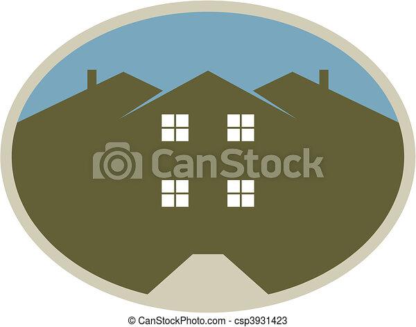 maisons, entrée - csp3931423