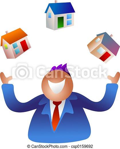 maisons, jonglerie - csp0159692