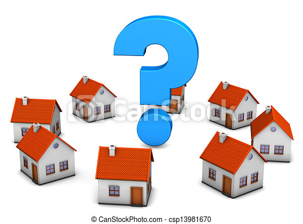 maisons, point interrogation - csp13981670