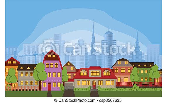 maisons, voisinage - csp3567635