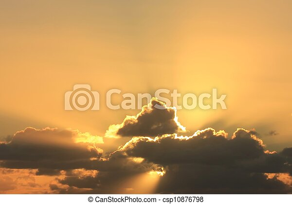 majestätisch, sonnenuntergang - csp10876798