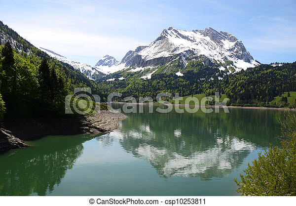 Majestic Alpine scenery, Switzerland - csp10253811