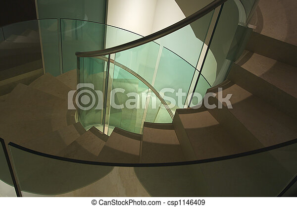 Majestic Spiral Staircase Abstract - csp1146409
