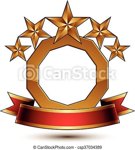 Majestic vector golden ring - csp37034389