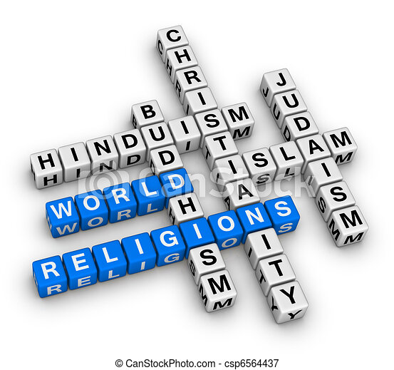 major world religions - csp6564437