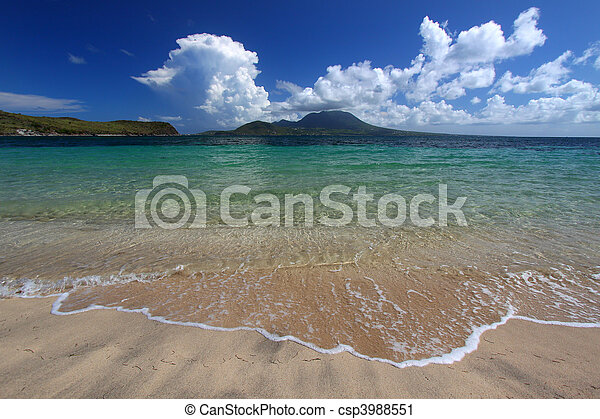 Majors Bay Beach - St Kitts - csp3988551