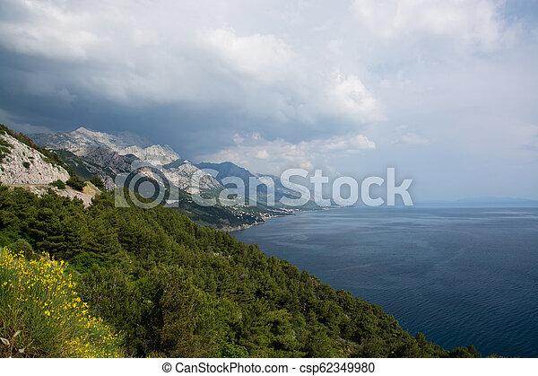 Makarska riviera, dalmatia, croatia - csp62349980