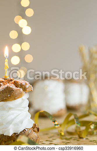 Make a wish and blow out the candle - csp33916960