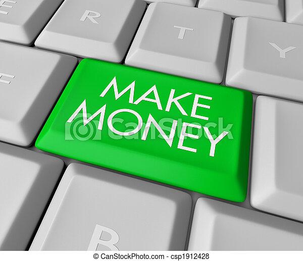 Make Money Key on Computer Keyboard - csp1912428