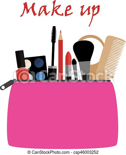 vector make up bag rh canstockphoto com makeup clip art cosmetics makeup clip art transparent