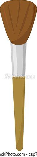 Make up brush, illustration, vector on white background. - csp73713046