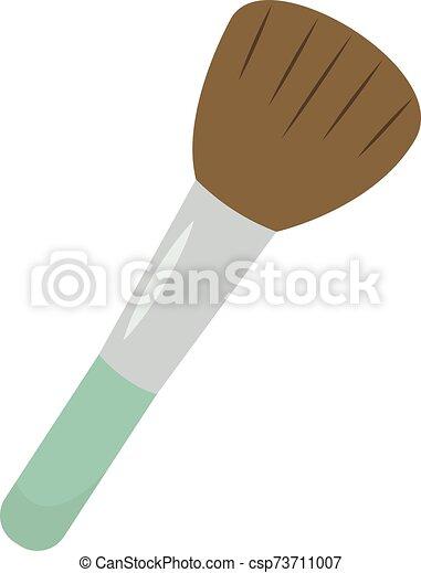Make up brush, illustration, vector on white background. - csp73711007