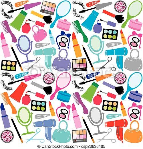 make up collection pattern - csp28638485