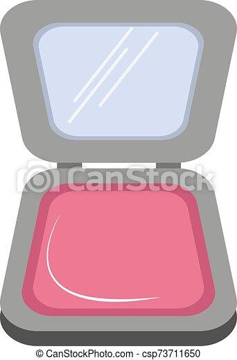 Make up, illustration, vector on white background. - csp73711650