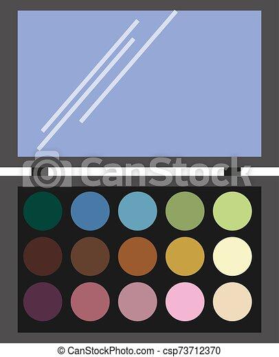 Make up, illustration, vector on white background. - csp73712370