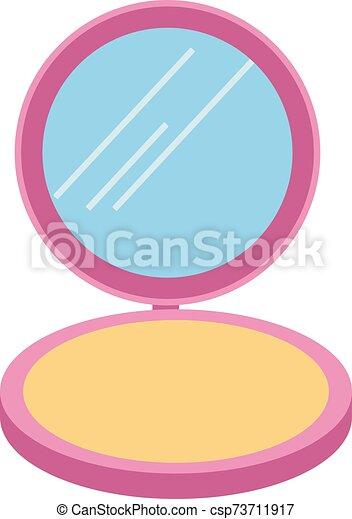 Make up, illustration, vector on white background. - csp73711917