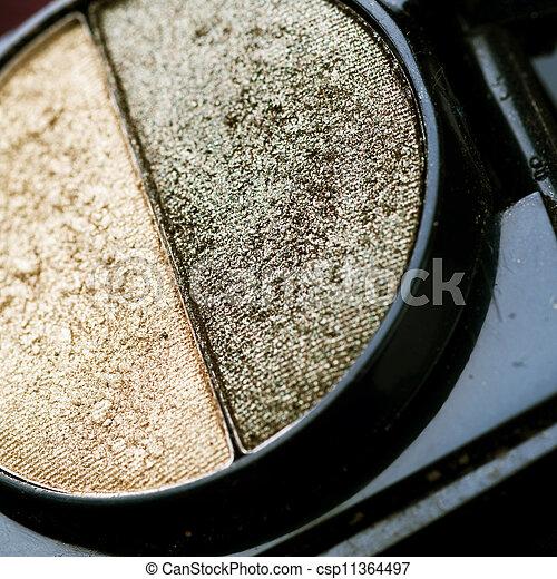 make-up, professioneel, schaduw, oog, closeup. - csp11364497