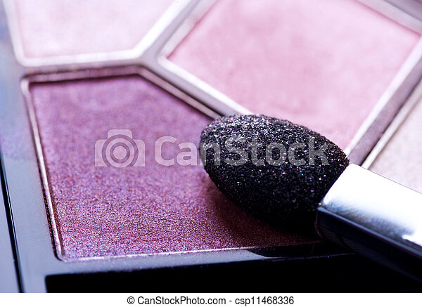 make-up, professioneel, schaduw, oog, closeup. - csp11468336