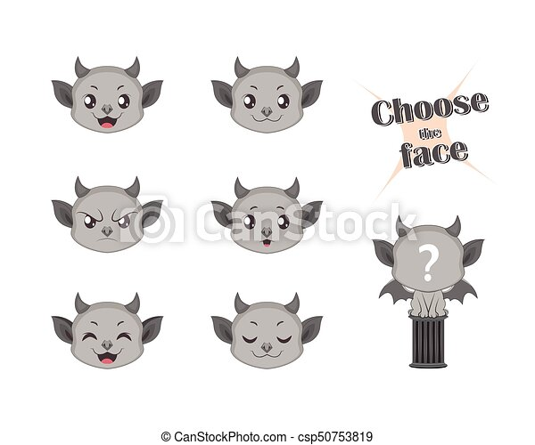 Make your own cute gargoyle set - csp50753819