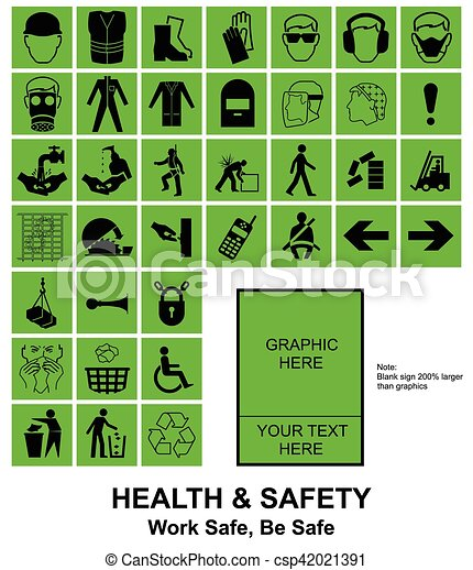 Make your own Health and Safety signs - csp42021391
