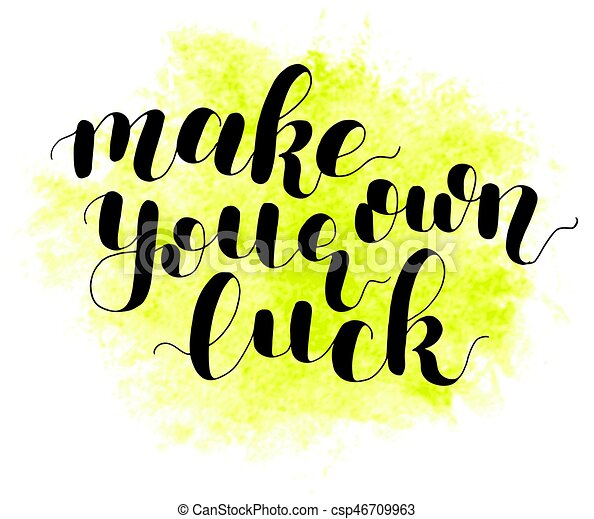 make your own luck lettering illustration make your own clip rh canstockphoto com how to make your own clipart on picsart how to make your own clipart for tpt