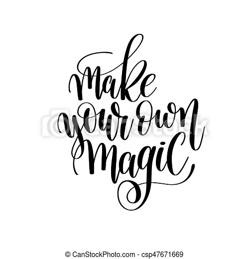 Make Your Own Magic Brush Ink Hand Lettering Inscription