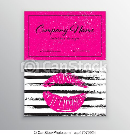 Makeup Artist Business Card Business Cards Template With - Makeup artist business card template
