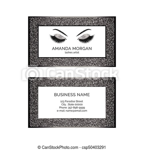Makeup artist business card vector template makeup artist business card csp50403291 colourmoves