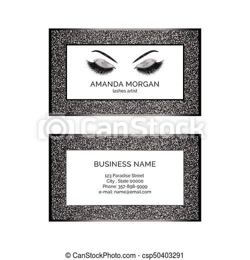 Makeup artist business card vector template makeup artist business card csp50403291 reheart Choice Image