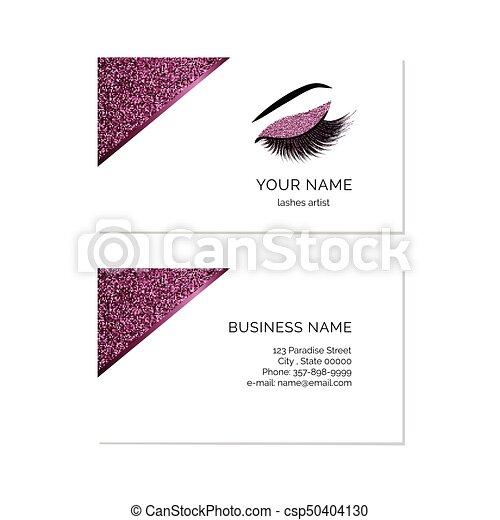 makeup artist business card csp50404130 - Makeup Business Cards