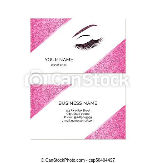 Makeup artist business card vector template vectors search clip makeup artist business card csp50404437 colourmoves