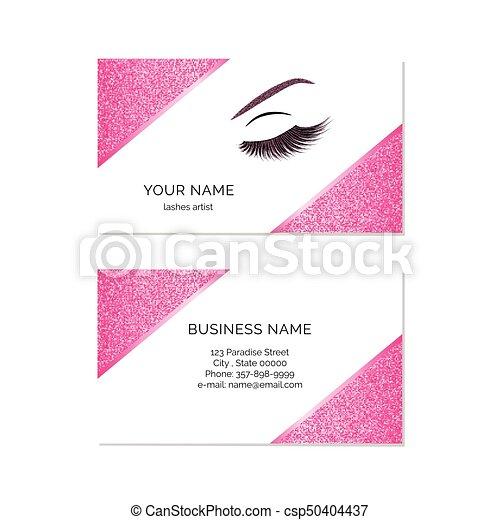 Makeup artist business card vector template makeup artist business card csp50404437 colourmoves