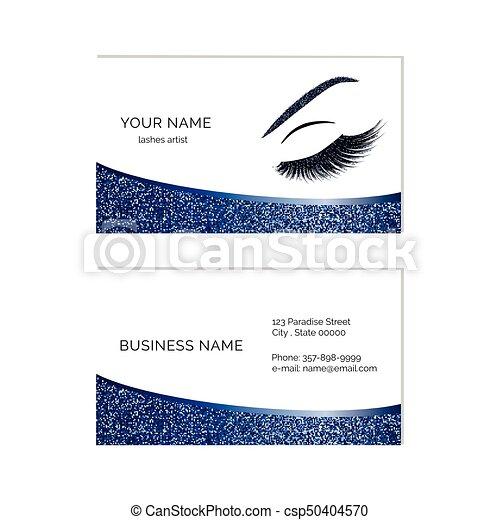 Makeup artist business card vector template makeup artist business card csp50404570 colourmoves