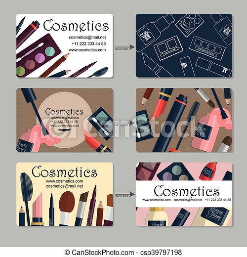 Makeup artist business card set of cosmetics for your eps makeup artist business card set of cosmetics for your design vector colourmoves