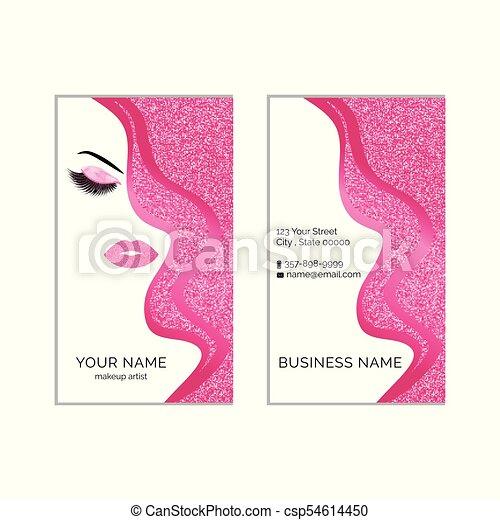 Makeup artist business card vector template makeup artist business card vector template accmission Images