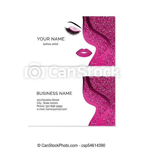 Makeup artist business card vector template makeup artist business card vector template reheart Choice Image