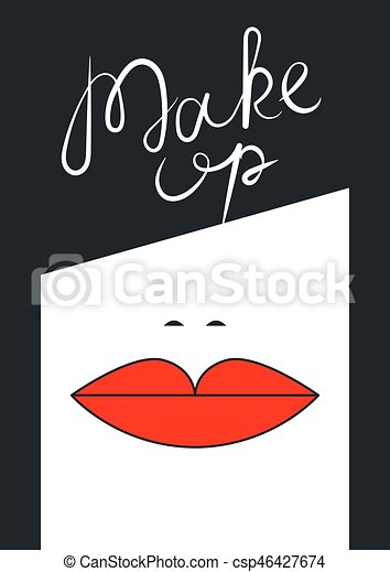Business card beauty salon hairdresser makeup artist brunette business card beauty salon hairdresser makeup artist brunette with red lips vector illustration reheart Images