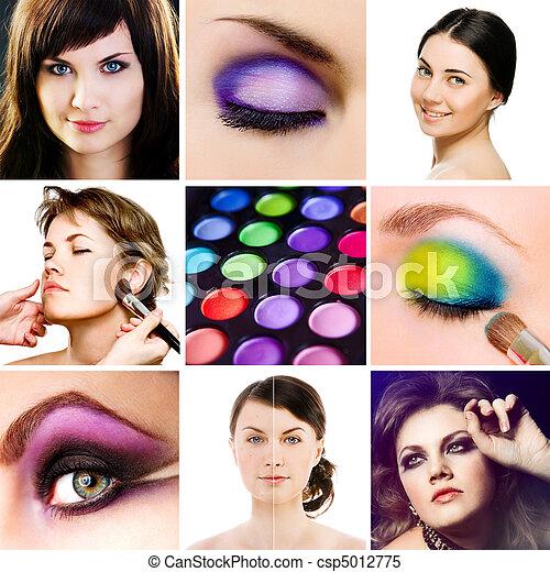 Makeup. Collage. - csp5012775