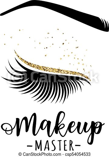 c27a0e70d4c Makeup master logo. vector illustration of lashes and brow. for beauty  salon, lash extensions maker, brow master.