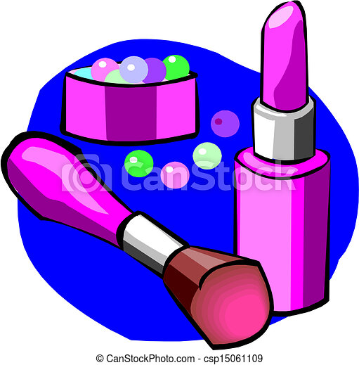 Makeup objects, vector illustration - csp15061109