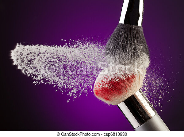 Makeup Powder And Brushes