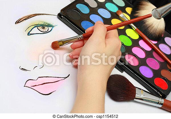 Makeup Sketching - csp1154512