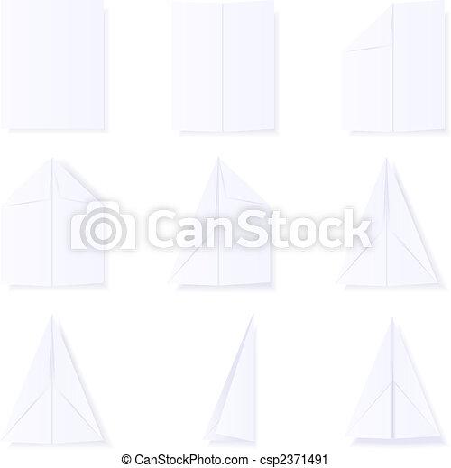 Making a paper plane - csp2371491