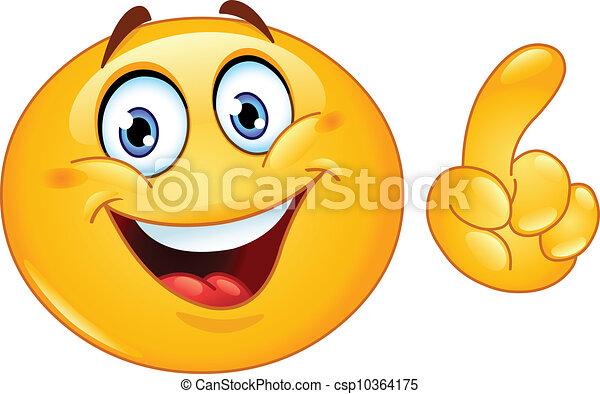 Making a point emoticon - csp10364175