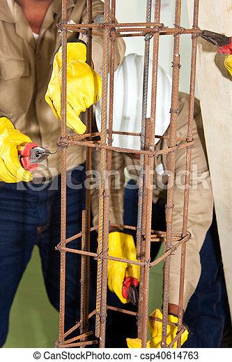 Making an iron framework - csp40614763