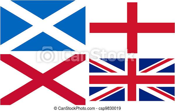 Making Of The Union Jack Flag England Scotland And Wales Eps - Flag of england