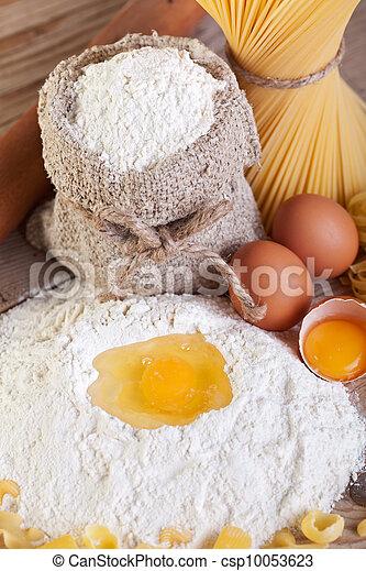 Making pasta from natural ingredients - csp10053623